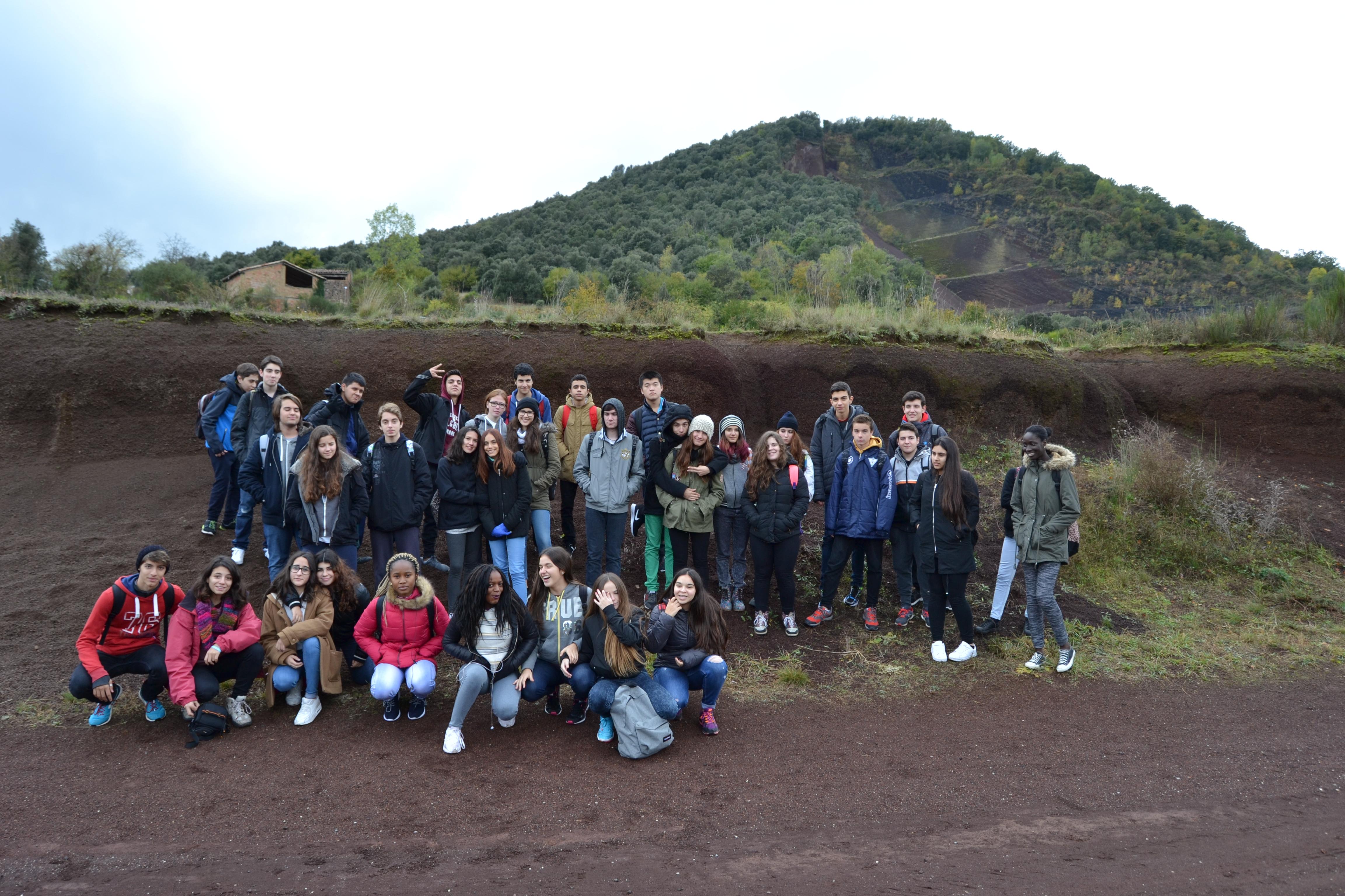 Sortida a Olot dels alumnes de 4t d'ESO de l'Optativa de Biologia i Geologia