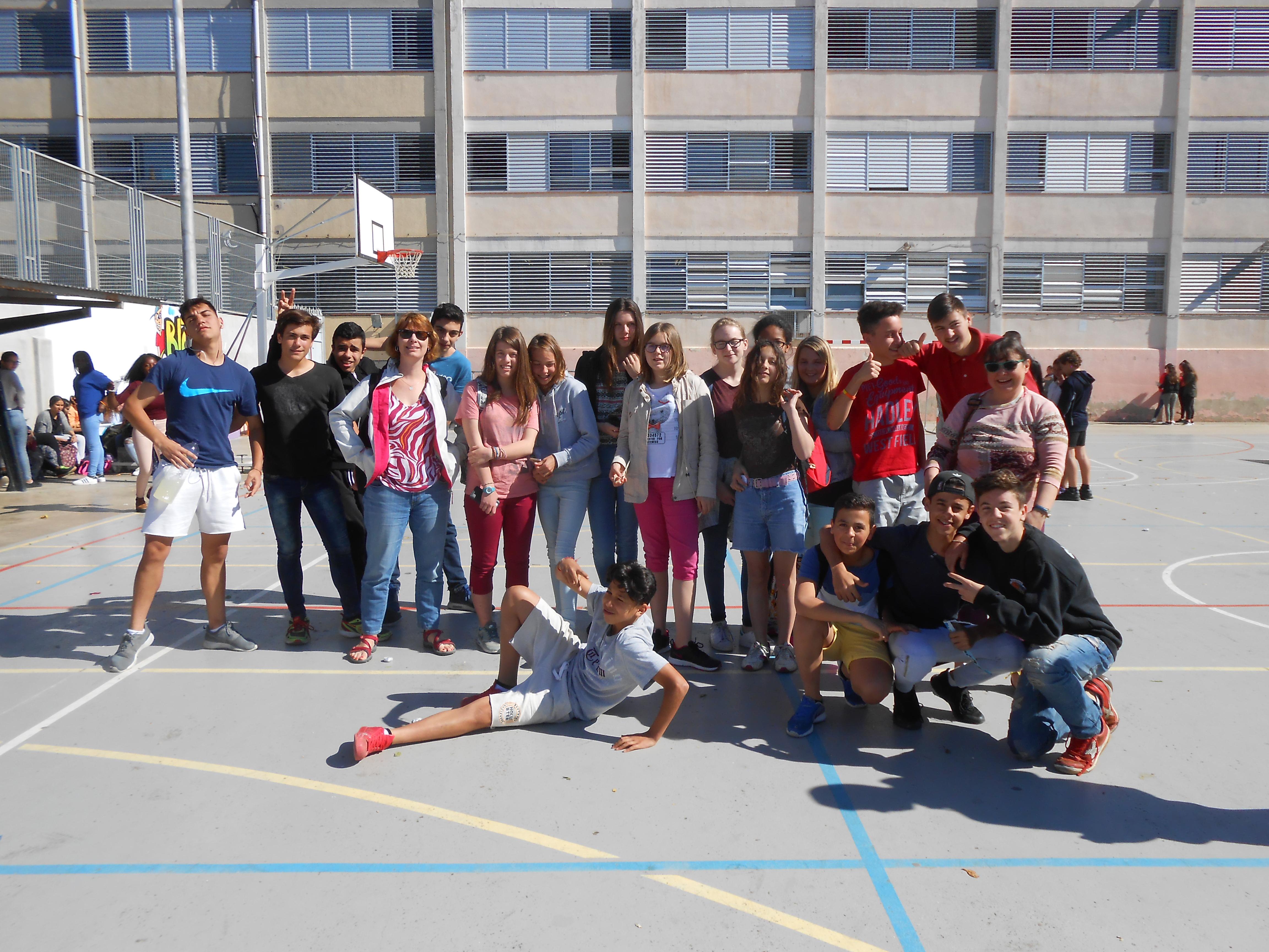Rebuda d'alumnes francesos