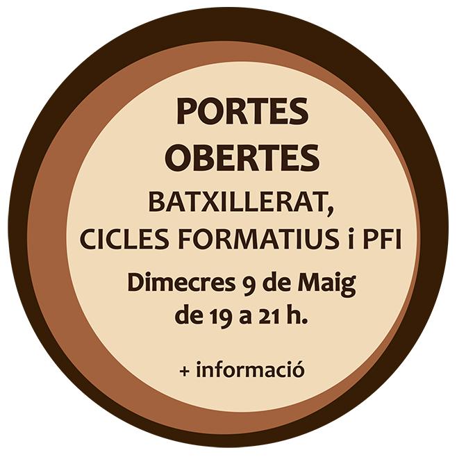 Portes Obertes de Batxillerat, Cicles Formatius i PFI