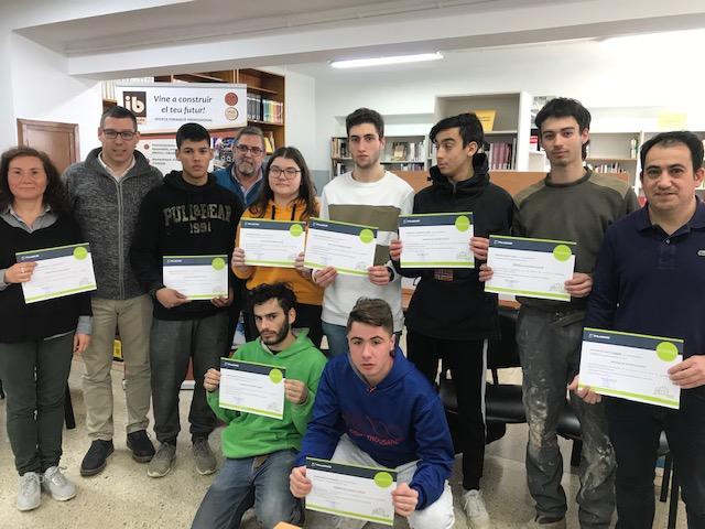 Lliurament de Diplomes als alumnes de Segon del Cicle Mig d'Obres d'Interior Decoració i Rehabilitació.