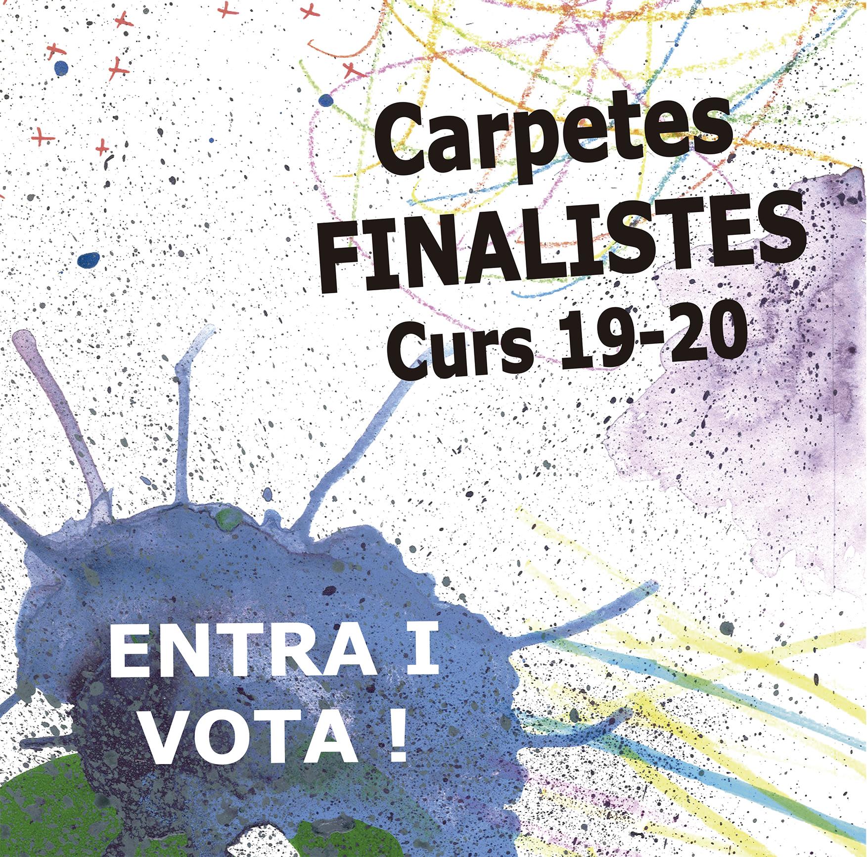 Carpetes finalistes curs 19-20!