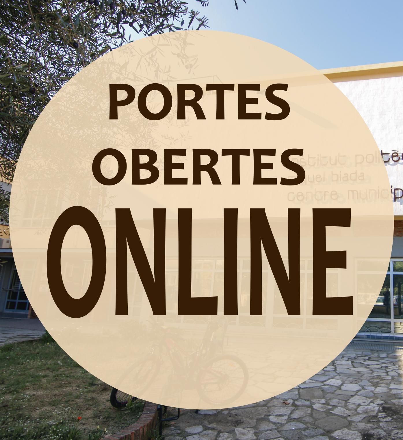 Programa portes obertes online Batxillerat, Cicles Formatius i PFI (11, 12, 13 i 14 maig)