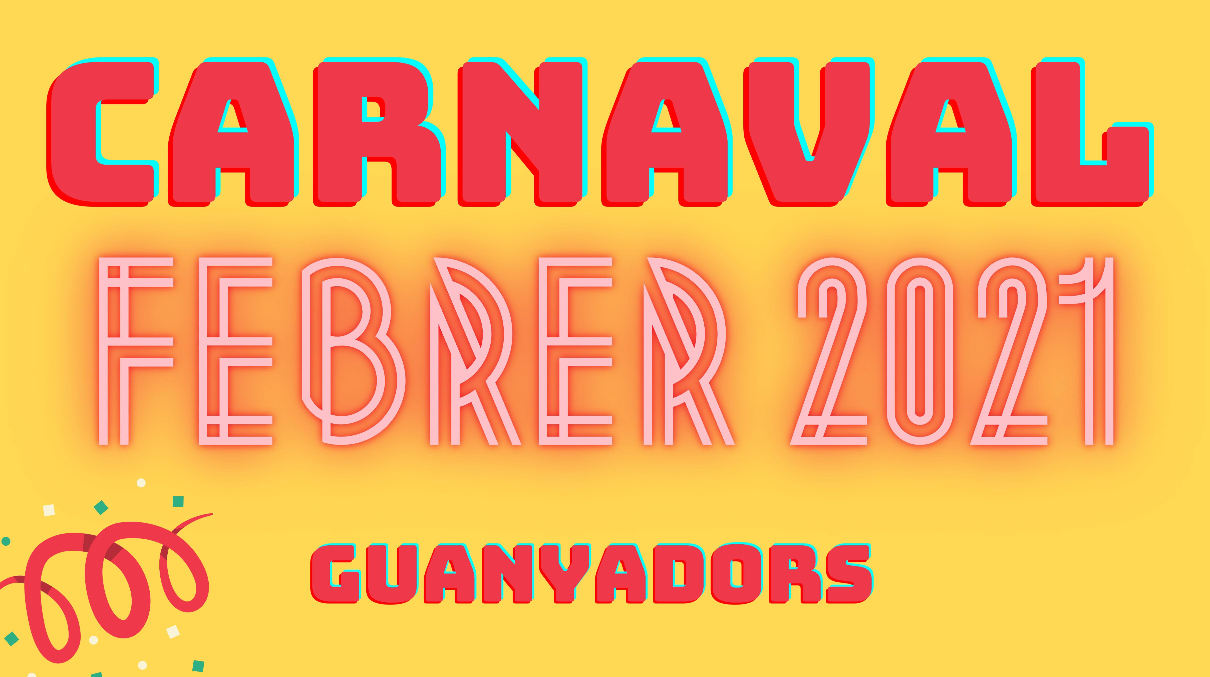Guanyadors Carnaval 2021